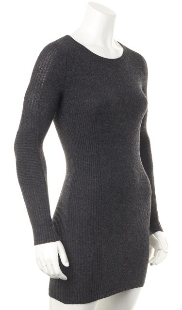 ÉTOILE ISABEL MARANT Gray Wool Knit Sweater Dress