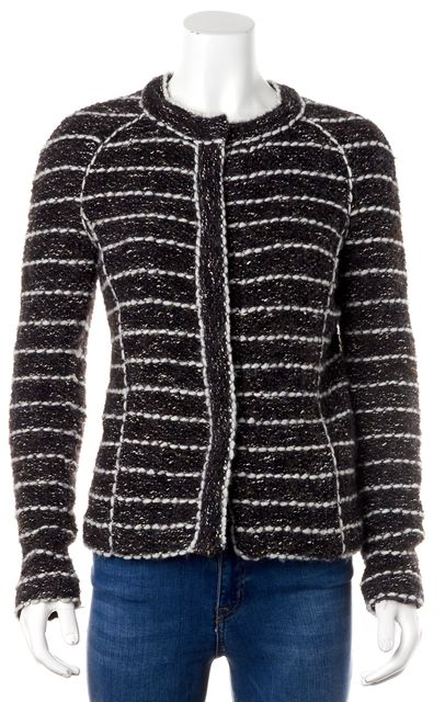 ÉTOILE ISABEL MARANT Brown White Tweed Wool Basic Jacket