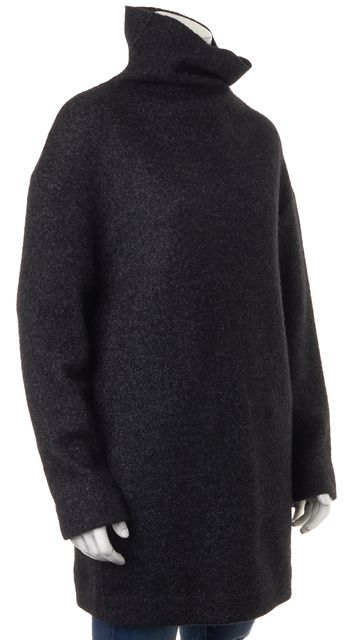 ÉTOILE ISABEL MARANT Black Gray Wool Marled Knit Sweater Dress
