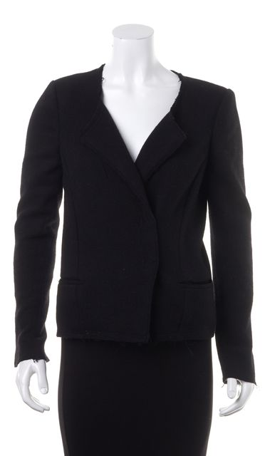 ÉTOILE ISABEL MARANT Black Wool Knit Basic Casual Blazer Career Jacket