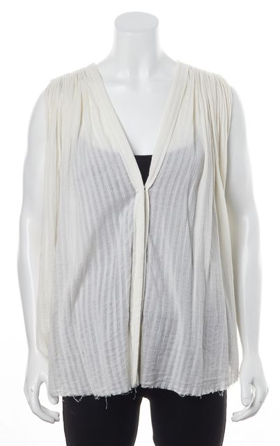 ÉTOILE ISABEL MARANT White Cotton Studded Shoulder Button Down Shirt