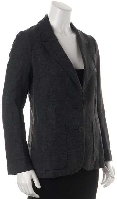 ÉTOILE ISABEL MARANT Gray Pocket Front Double Button Blazer