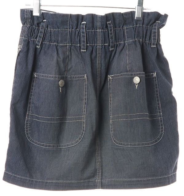 ÉTOILE ISABEL MARANT Blue Denim Paper Bag Waist A-Line Skirt
