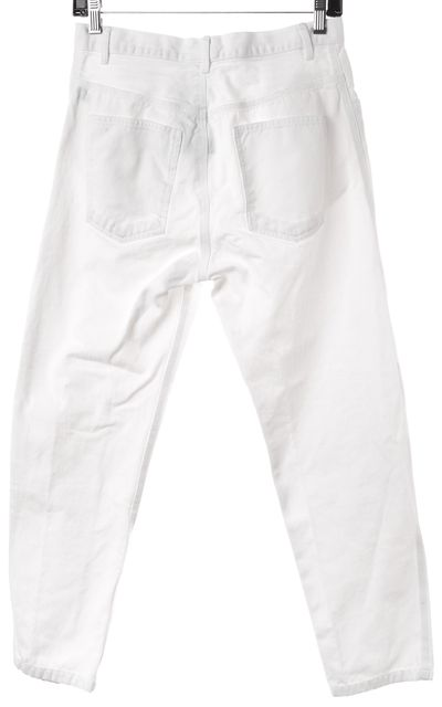 ÉTOILE ISABEL MARANT White Cotton High-Rise Cropped Jeans