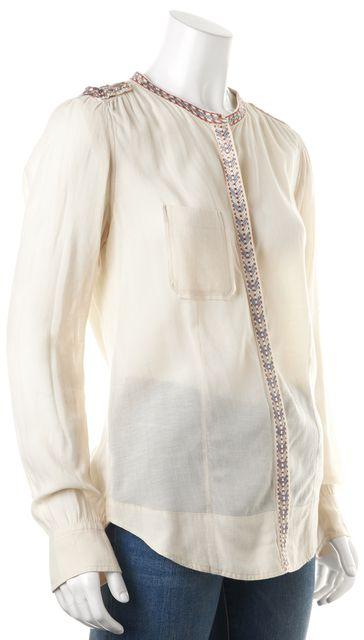 ÉTOILE ISABEL MARANT Beige Embellished Blouse Top