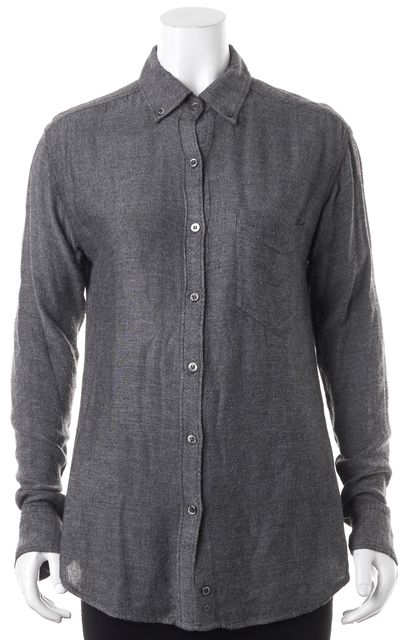 ÉTOILE ISABEL MARANT Gray Long Sleeve Button Down Shirt Top