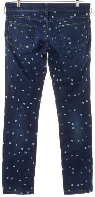 ÉTOILE ISABEL MARANT Blue Embroidered Slim Fit Jeans