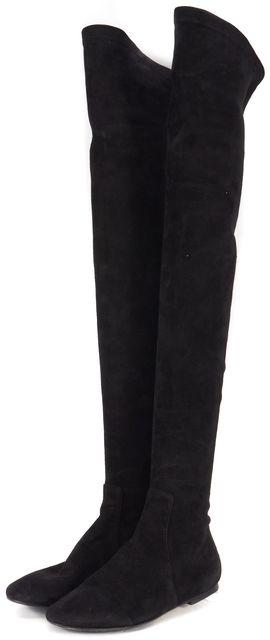 ÉTOILE ISABEL MARANT Black Suede Over Knee Brenna Boots