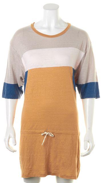 ÉTOILE ISABEL MARANT Brown Pink Color Block T-Shirt Dress