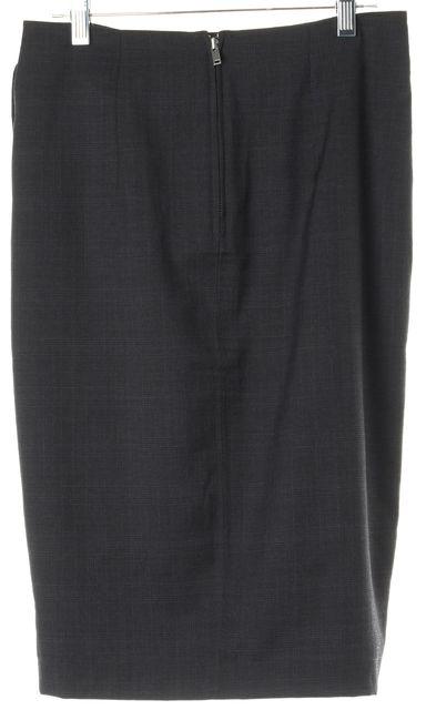 ÉTOILE ISABEL MARANT Gray Plaid Virgin Wool Wrap Skirt