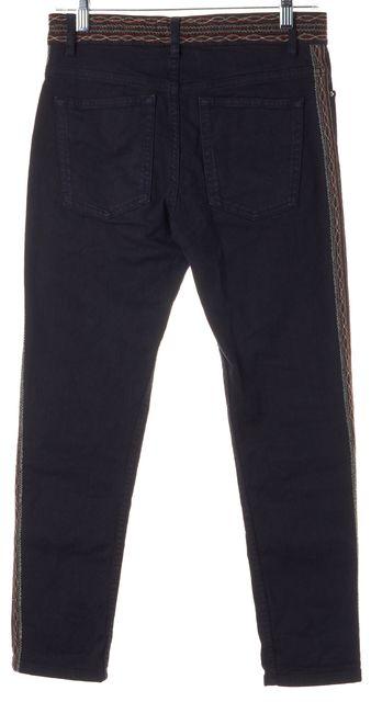 ÉTOILE ISABEL MARANT Black Red Embroidered Skinny Jeans