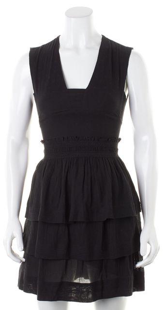 ÉTOILE ISABEL MARANT Black Polka Dot Tiered Fit & Flare Dress