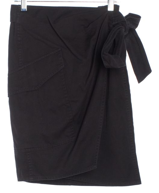 ÉTOILE ISABEL MARANT Black Cargo Wrap Skirt