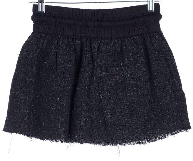 ÉTOILE ISABEL MARANT Heather Gray Raw Edge Unfinished Mini Skirt