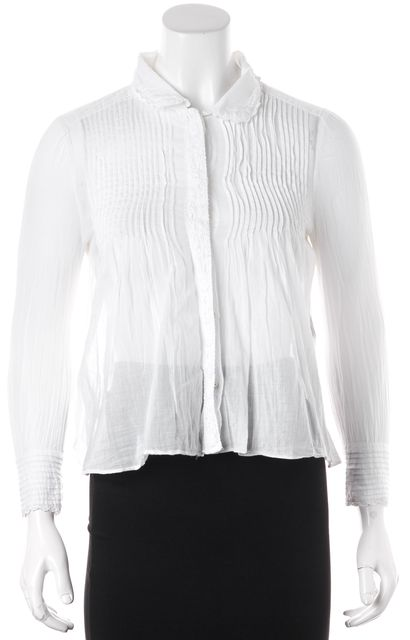 ÉTOILE ISABEL MARANT White Button Up Fit & Flare Blouse