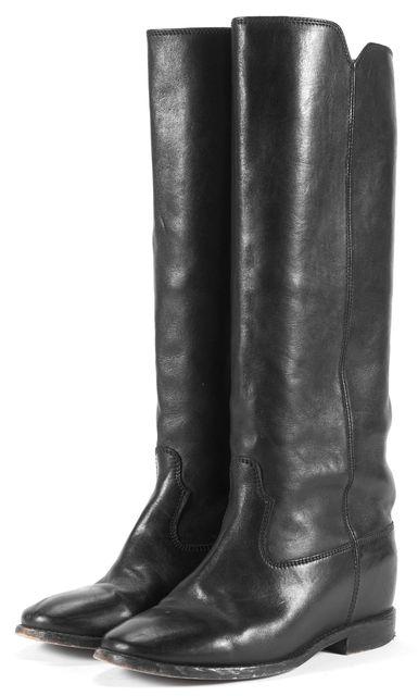 ÉTOILE ISABEL MARANT Black Leather Mid-Calf Boots