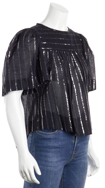 ÉTOILE ISABEL MARANT Black Striped Blouse Top