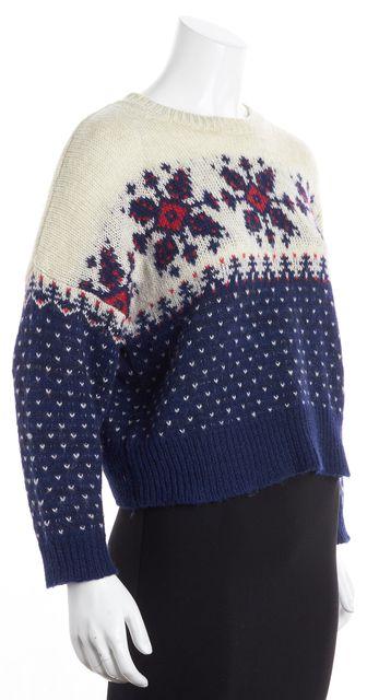 ÉTOILE ISABEL MARANT Multi-Color Alpaca Snow Flake Crewneck Sweater