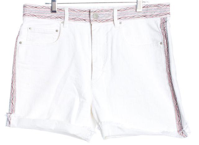 ÉTOILE ISABEL MARANT White Trim Detail Mini, Short Shorts