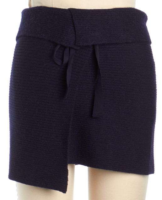 ÉTOILE ISABEL MARANT Navy Blue Wool Wrap Skirt