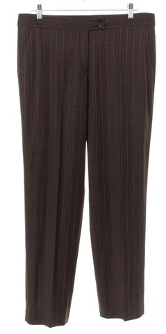 ETRO Brown Striped Wool Trousers Pants Size Unknown Fits Like a L