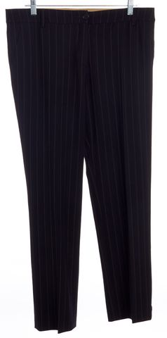 ETRO Black Striped Wool Trousers Pants