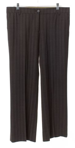 ETRO Brown Striped Wool Trousers Pants