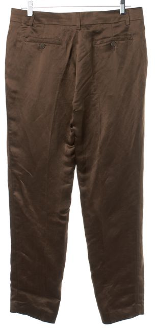 ETRO Brown Linen Casual Pants