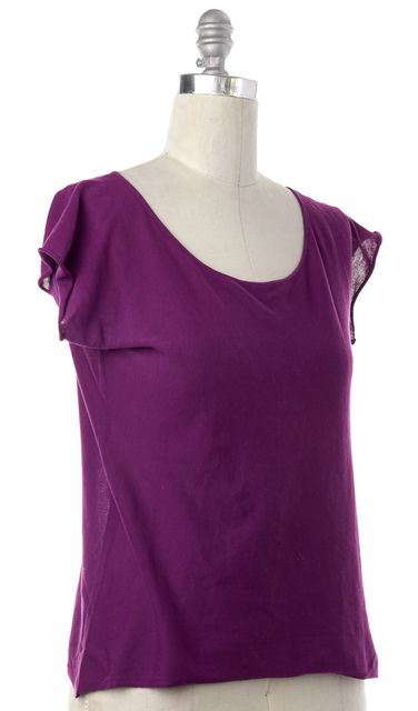 ETRO Purple Short Sleeve Knit Top