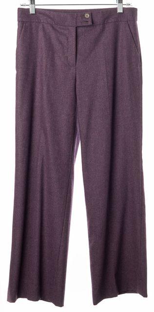 ETRO Purple Wool Knit Casual Wide Leg Dress Pants