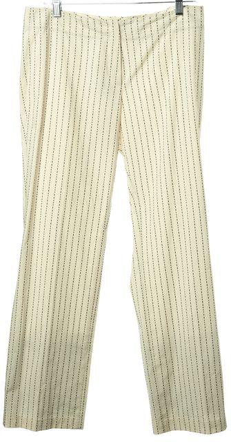 ETRO Ivory Navy Stripe Lightweight Chinos Pants