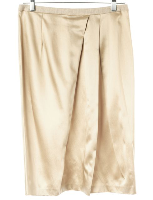 ETRO Beige Casual Pleated Front A-Line Knee Length Skirt