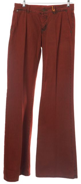 ETRO Orange Boot Cut Wide Leg Flare Bottom Jeans