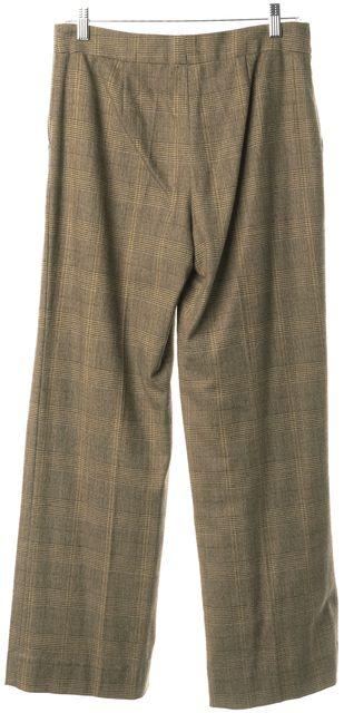 ETRO Brown Wool Plaid Dress Pants