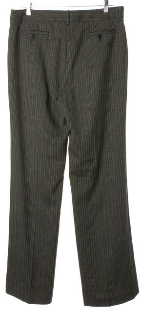 ETRO Gray Blue Beige Striped Pleated Trouser Dress Pants