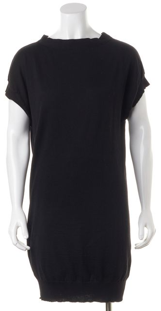 ETRO Black Fit & Flare Cap Sleeve Casual Dress