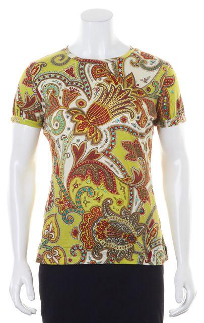ETRO Yellow Psychedelic Paisley Short Sleeve T-Shirt