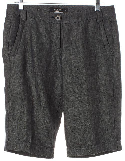 ETRO Black Linen Dress Shorts