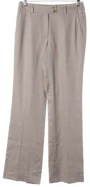ETRO Cement Gray Linen Trouser Dress Pants