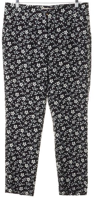 ETRO Black Blue White Floral Trouser Dress Pants