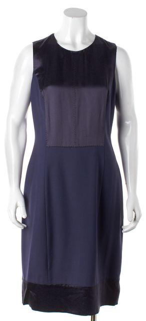 ETRO Blue Wool Sheath Dress
