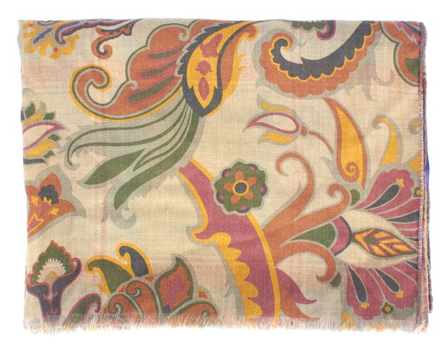 ETRO Beige Abstract Cashmere Scarf