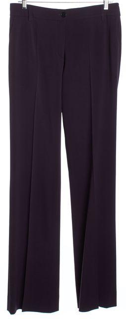 ETRO Purple Wool Wide Leg Dress Pants
