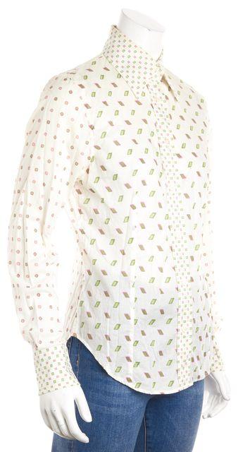 ETRO Multi-color Geometric Button Down Shirt Top