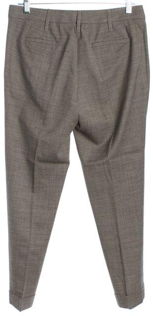 ETRO Light Brown Plaid Slim Straight Dress Pants