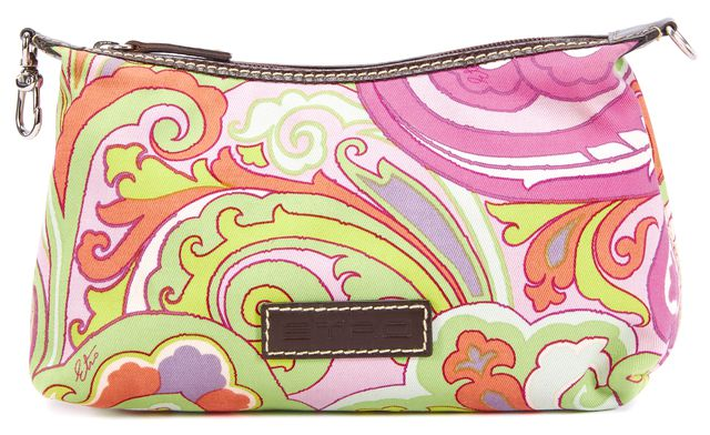 ETRO Bright Multi-color Paisley Pouch Cosmetic Bag