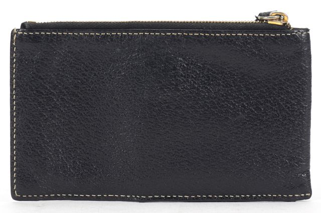 FENDI Black Leather Pouch Wallet