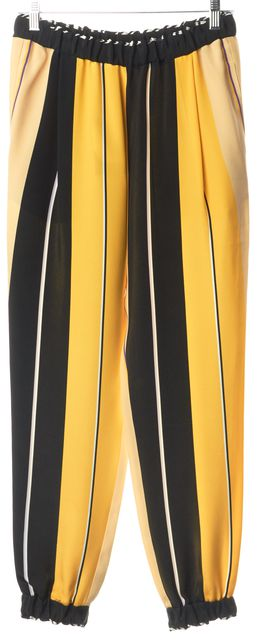 FENDI Yellow Black Beige Purple White Silk Jogger Casual Relaxed Fit Pants