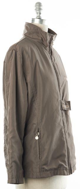 FENDI Brown Lightweight Basic Zip Up Jacket