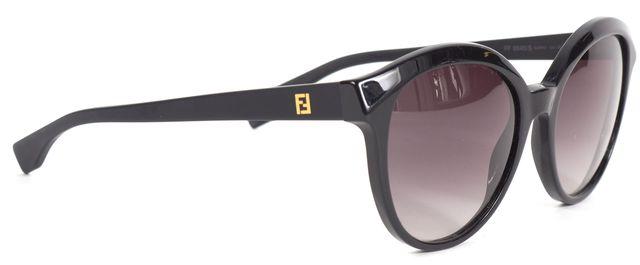 FENDI Black Acetate Round Frame Sunglasses w/ Case